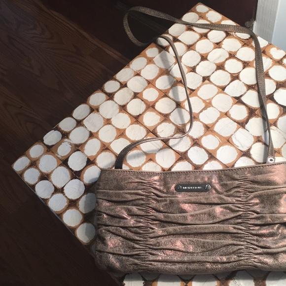 Michael Kors Handbags - MK beautiful bronze crossbody/clutch